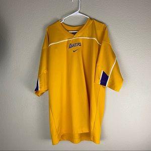 Los Angeles Lakers Nike Warm Up Shirt Mens Size XL